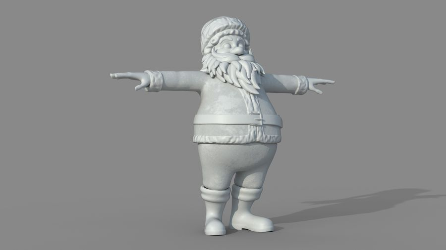 Personnage - Santa Claus Rigging royalty-free 3d model - Preview no. 24