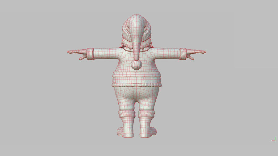 Personnage - Santa Claus Rigging royalty-free 3d model - Preview no. 37