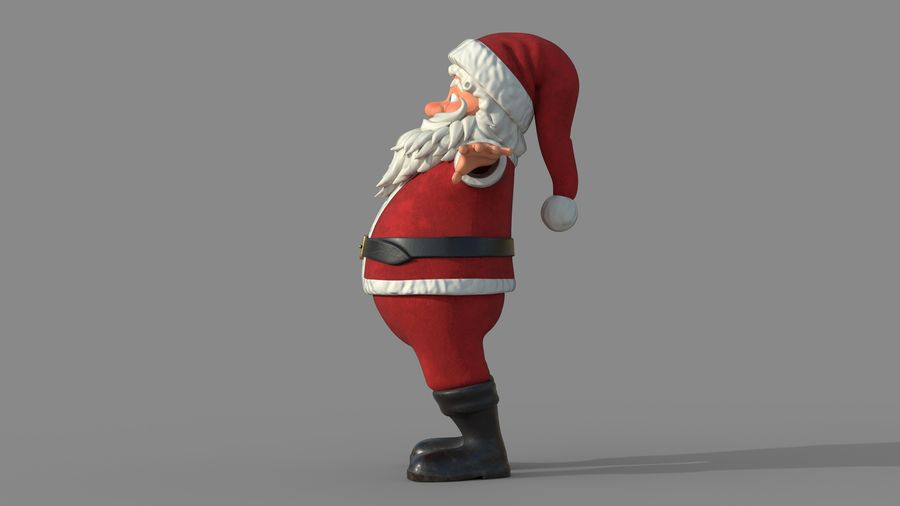 Personnage - Santa Claus Rigging royalty-free 3d model - Preview no. 4