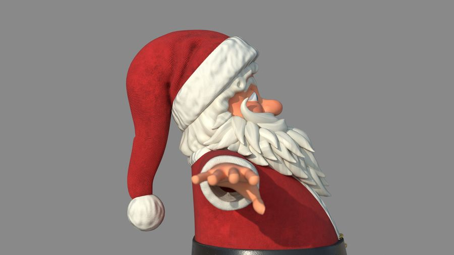 Personnage - Santa Claus Rigging royalty-free 3d model - Preview no. 15