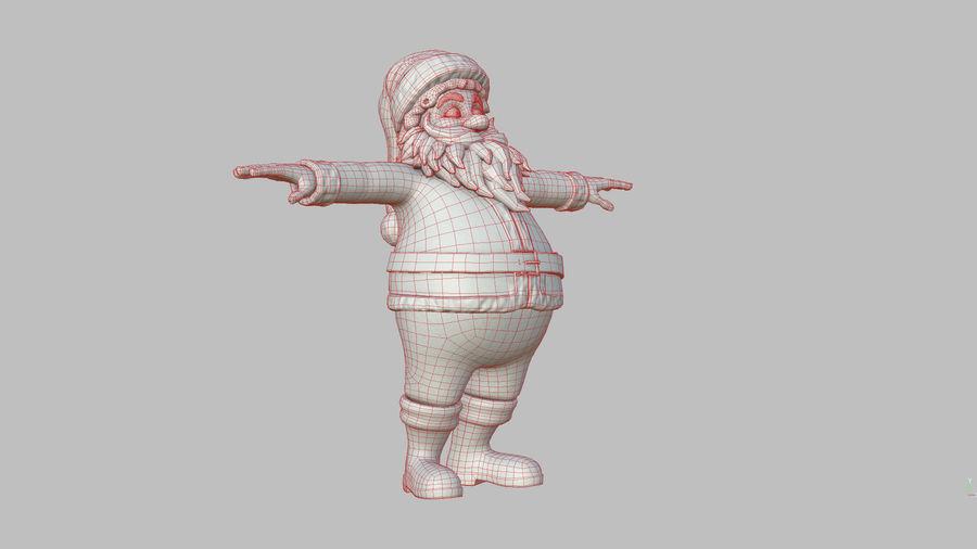 Santa Claus royalty-free 3d model - Preview no. 40