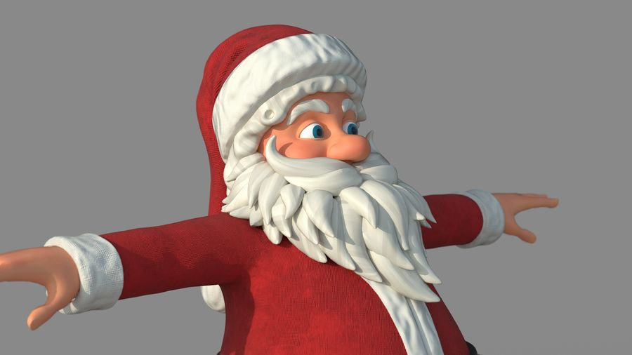 Personnage - Santa Claus Rigging royalty-free 3d model - Preview no. 16