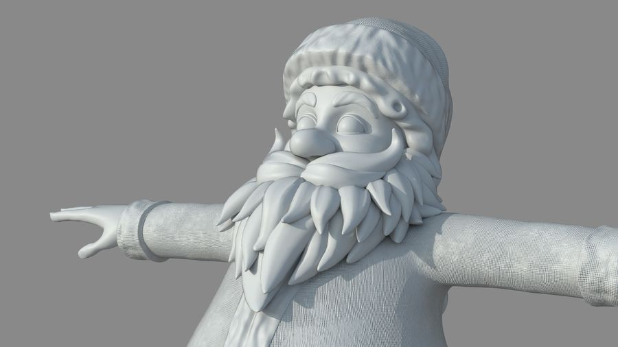 Personnage - Santa Claus Rigging royalty-free 3d model - Preview no. 26