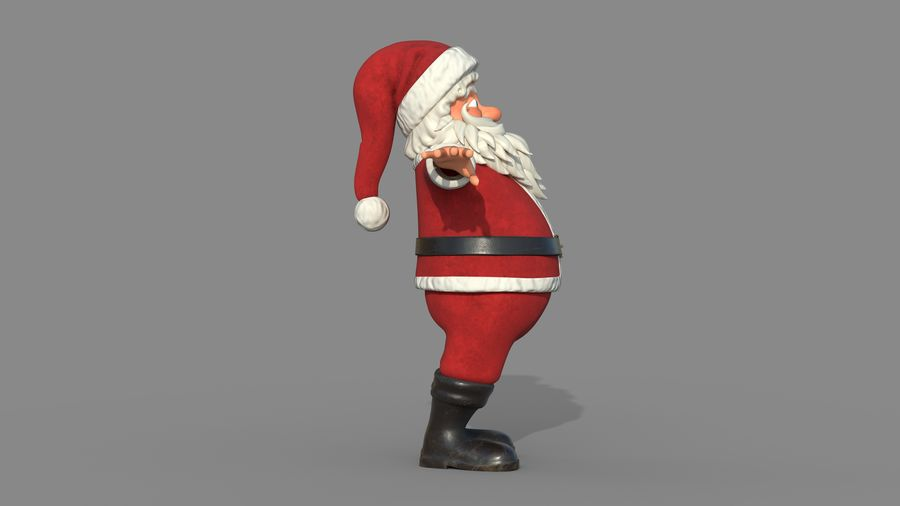 Personnage - Santa Claus Rigging royalty-free 3d model - Preview no. 8