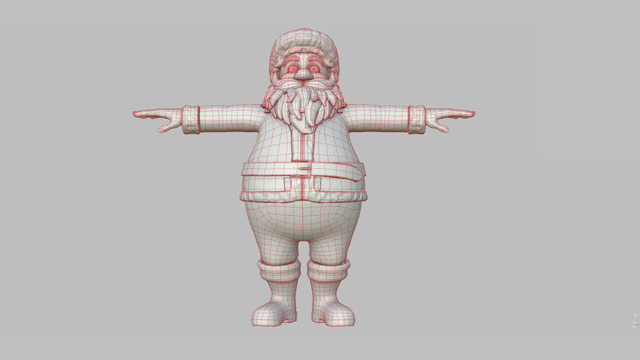 Personnage - Santa Claus Rigging royalty-free 3d model - Preview no. 33