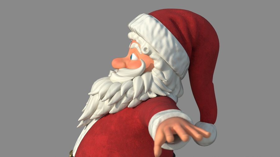 Personnage - Santa Claus Rigging royalty-free 3d model - Preview no. 11