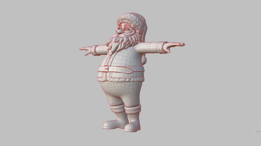 Santa Claus royalty-free 3d model - Preview no. 34