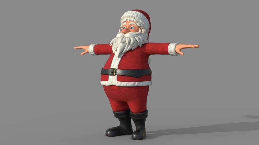 Personnage - Santa Claus Rigging royalty-free 3d model - Preview no. 3