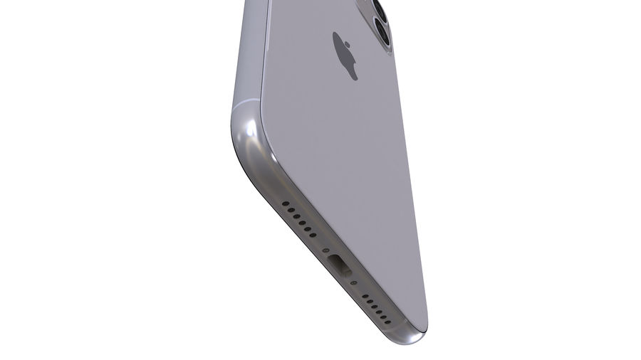 Apple iPhone 11 royalty-free 3d model - Preview no. 12