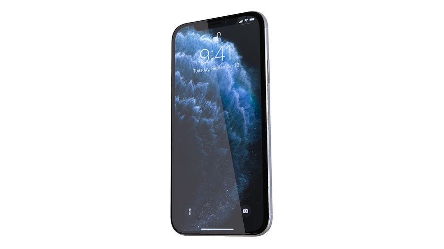 Apple iPhone 11 royalty-free 3d model - Preview no. 4