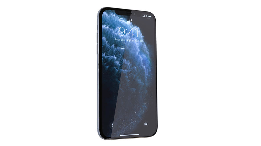 Apple iPhone 11 royalty-free 3d model - Preview no. 2
