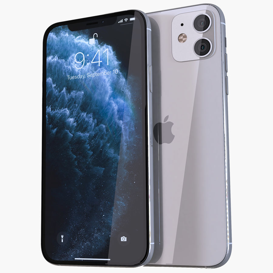 Apple iPhone 11 royalty-free 3d model - Preview no. 1