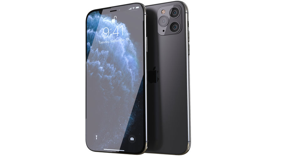 Apple iPhone 11 Pro and iPhone 11 royalty-free 3d model - Preview no. 2