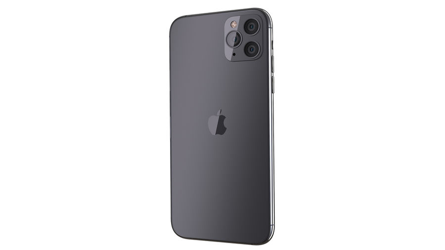 Apple iPhone 11 Pro and iPhone 11 royalty-free 3d model - Preview no. 5