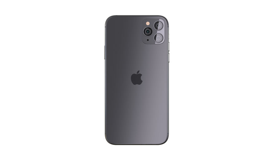 Apple iPhone 11 Pro and iPhone 11 royalty-free 3d model - Preview no. 14