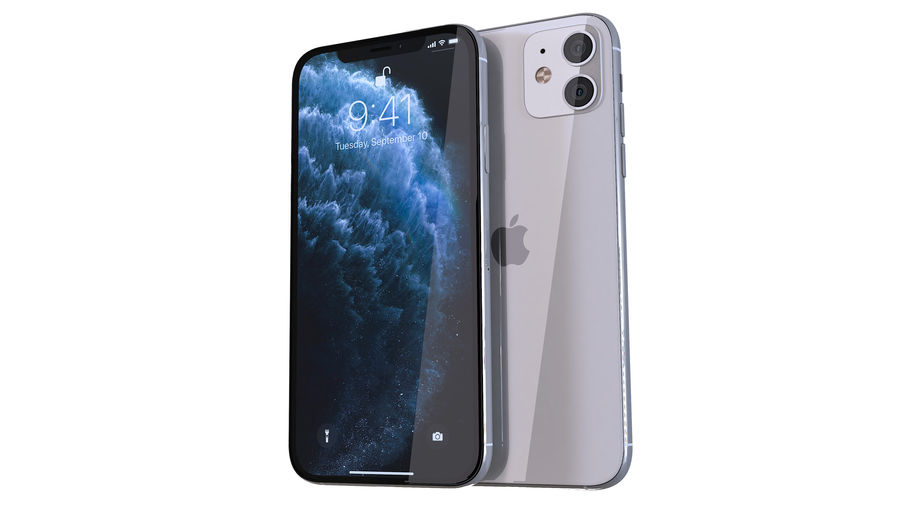 Apple iPhone 11 Pro and iPhone 11 royalty-free 3d model - Preview no. 3