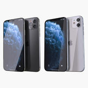 Apple iPhone 11 Pro and iPhone 11 3d model