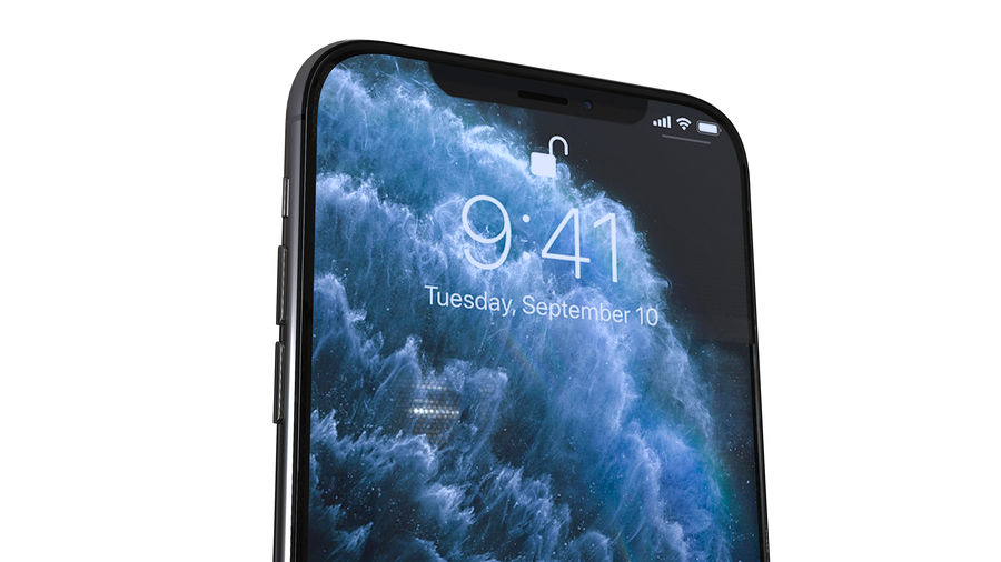 Apple iPhone 11 Pro and iPhone 11 royalty-free 3d model - Preview no. 12