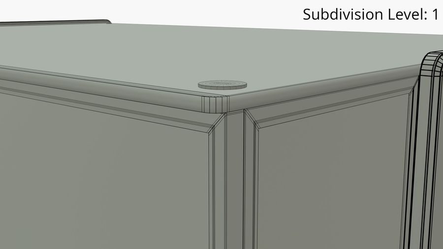 Meat & Cold Food Display royalty-free 3d model - Preview no. 10