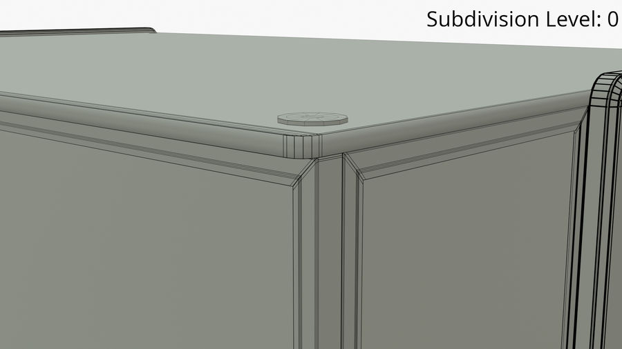 Meat & Cold Food Display royalty-free 3d model - Preview no. 9