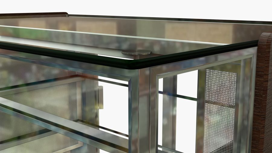 Meat & Cold Food Display royalty-free 3d model - Preview no. 7