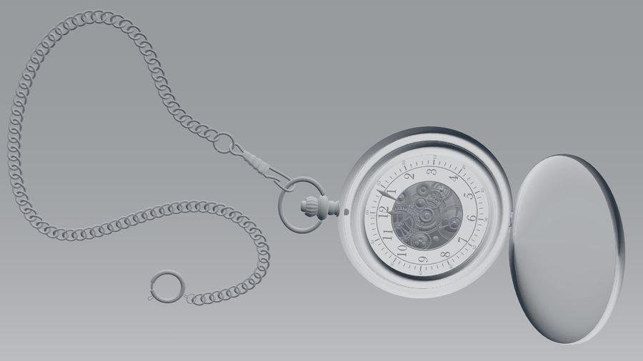 relógio de bolso royalty-free 3d model - Preview no. 9