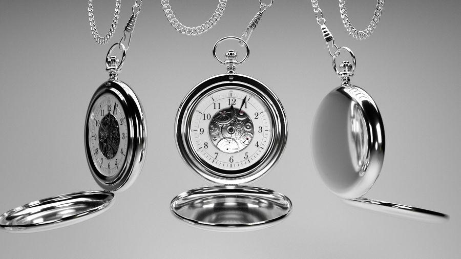 relógio de bolso royalty-free 3d model - Preview no. 1
