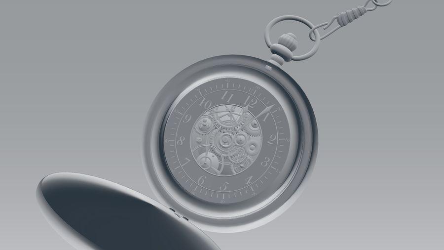 relógio de bolso royalty-free 3d model - Preview no. 7