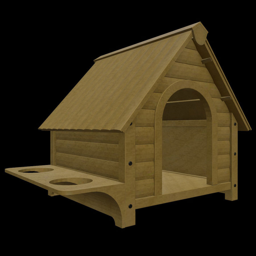 HOME-001 Dog House royalty-free 3d model - Preview no. 1