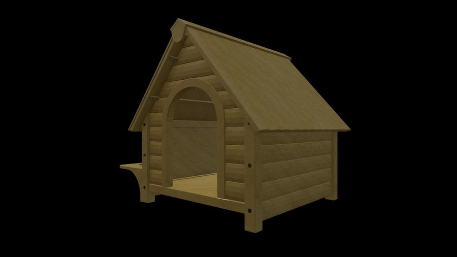 HOME-001 Dog House royalty-free 3d model - Preview no. 4