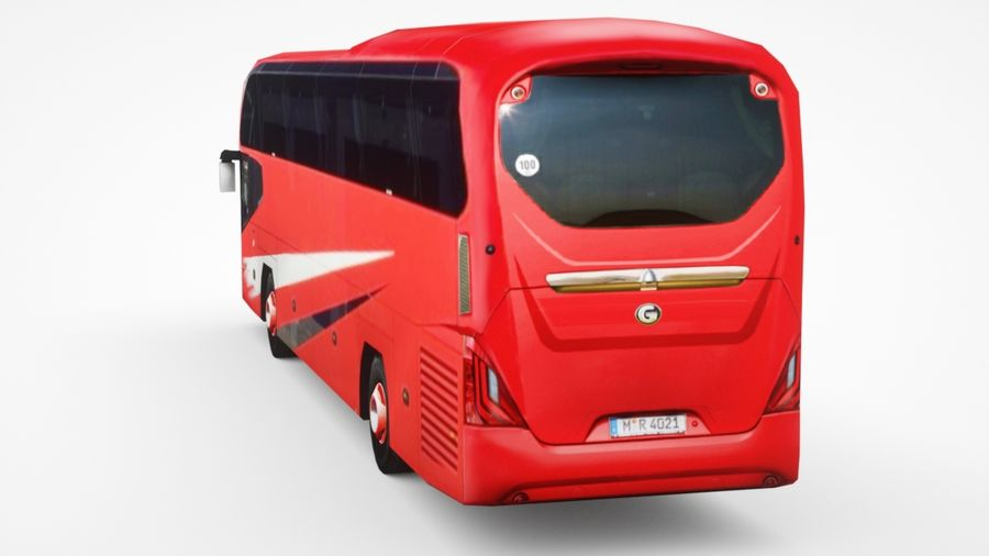Generic Bus v2 royalty-free 3d model - Preview no. 5