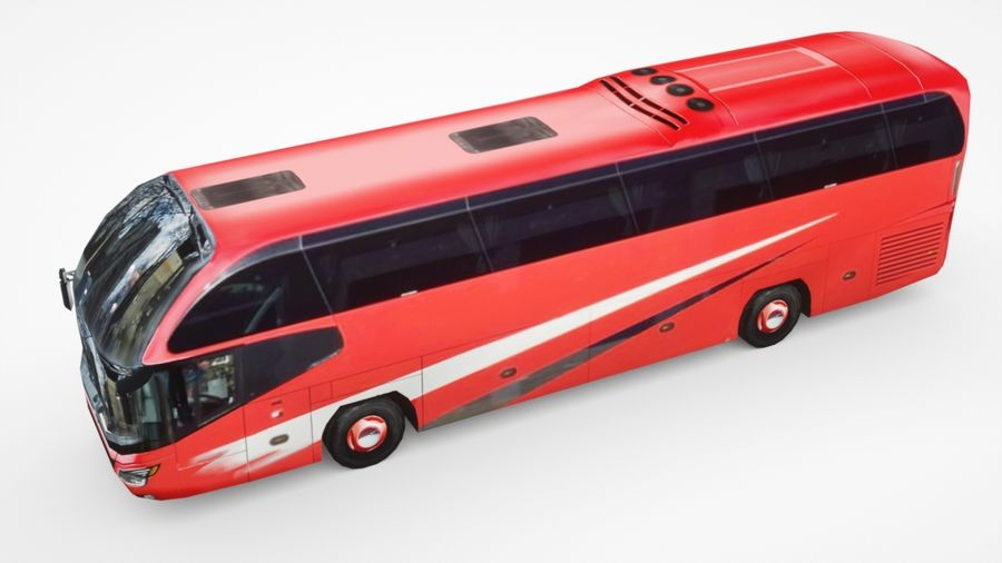 Generic Bus v2 royalty-free 3d model - Preview no. 3