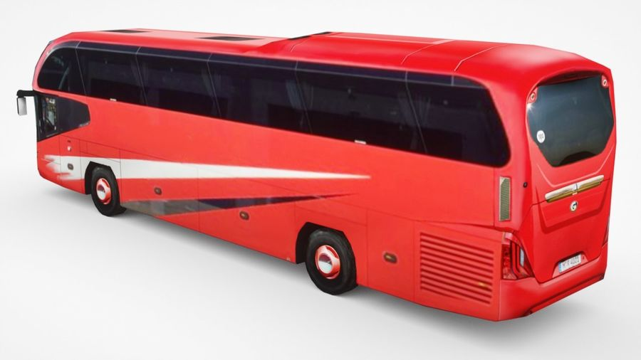 Generic Bus v2 royalty-free 3d model - Preview no. 2