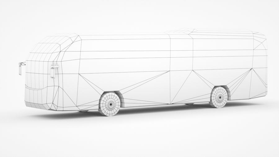 Generic Bus v2 royalty-free 3d model - Preview no. 8