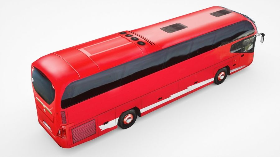 Generic Bus v2 royalty-free 3d model - Preview no. 4