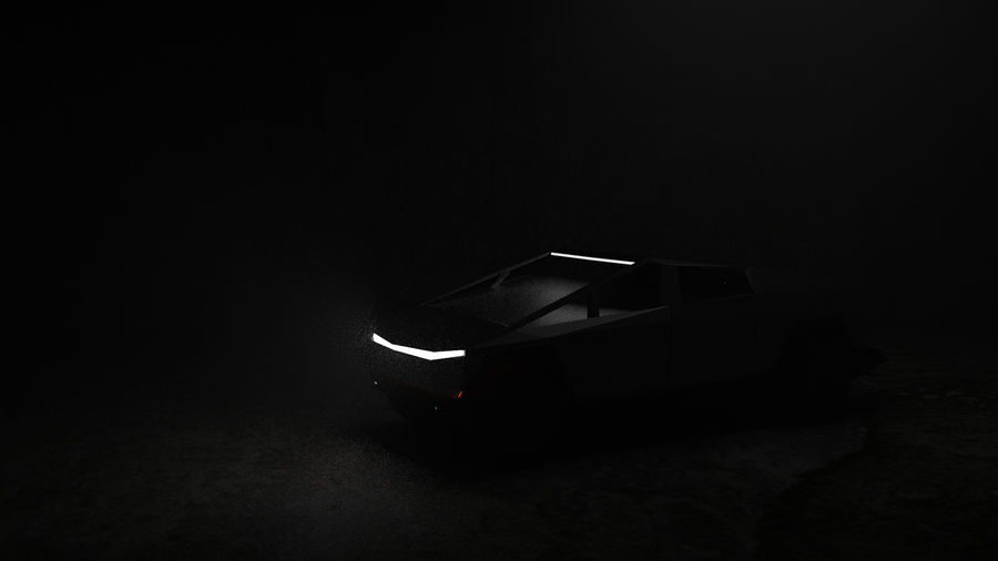 Tesla Cyber Truck royalty-free 3d model - Preview no. 5