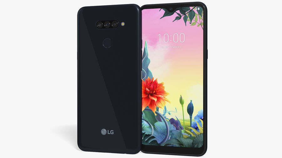 LG K50S New Aurora Black royalty-free 3d model - Preview no. 1