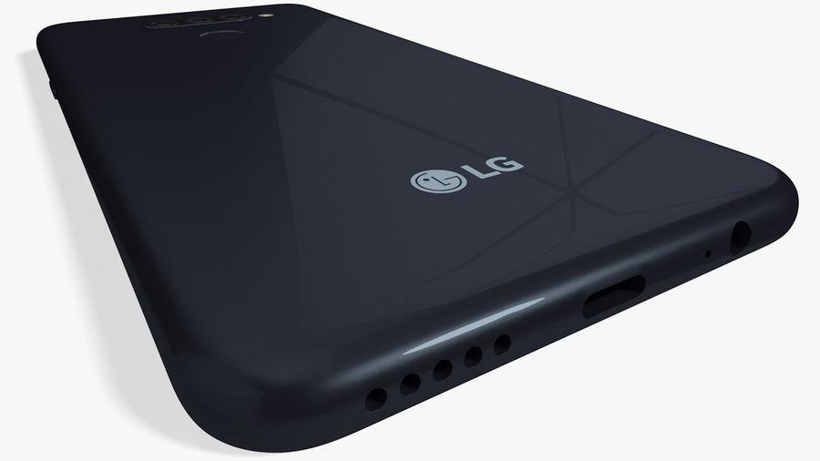 LG K50S New Aurora Black royalty-free 3d model - Preview no. 6