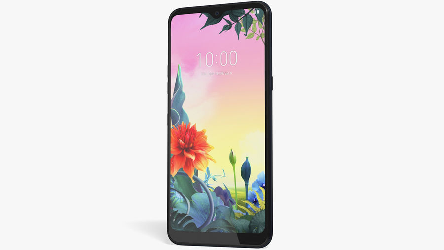 LG K50S New Aurora Black royalty-free 3d model - Preview no. 4