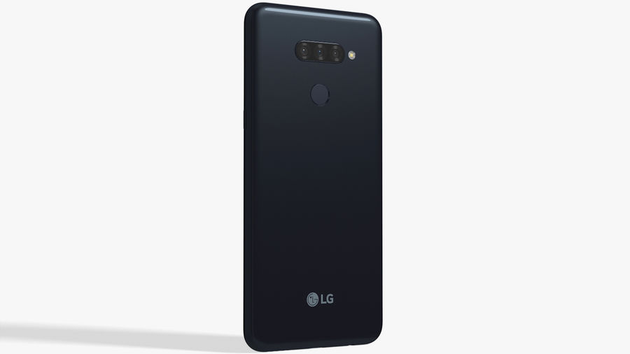 LG K50S New Aurora Black royalty-free 3d model - Preview no. 3