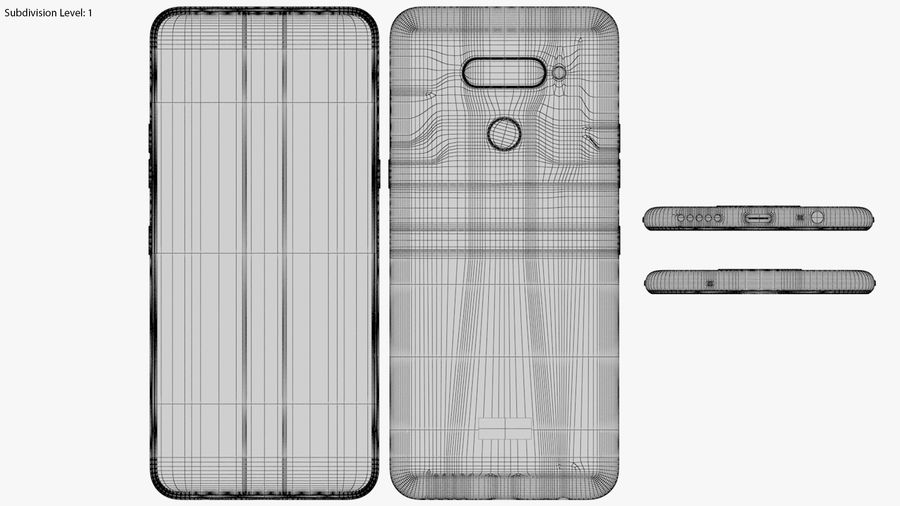 LG K50S New Moroccan Blue royalty-free 3d model - Preview no. 18