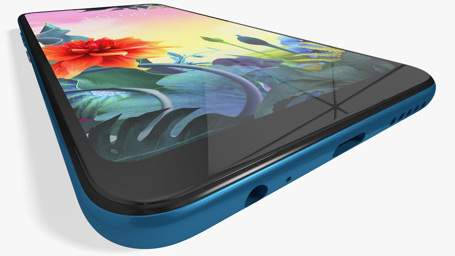 LG K50S New Moroccan Blue royalty-free 3d model - Preview no. 10