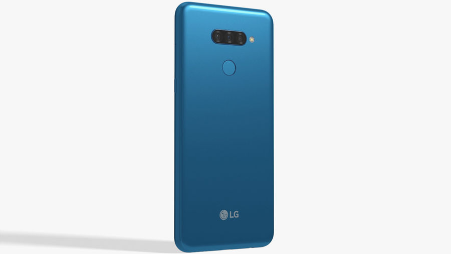 LG K50S New Moroccan Blue royalty-free 3d model - Preview no. 3