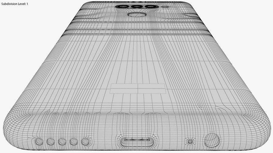 LG K50S New Moroccan Blue royalty-free 3d model - Preview no. 26