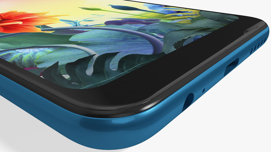 LG K50S New Moroccan Blue royalty-free 3d model - Preview no. 16