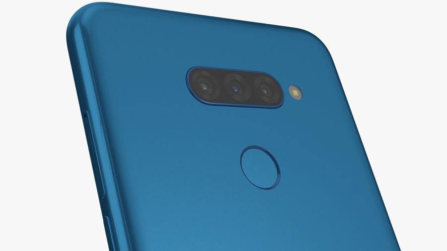 LG K50S New Moroccan Blue royalty-free 3d model - Preview no. 5