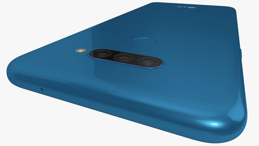 LG K50S New Moroccan Blue royalty-free 3d model - Preview no. 8