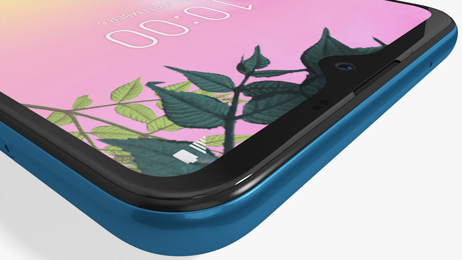 LG K50S New Moroccan Blue royalty-free 3d model - Preview no. 15