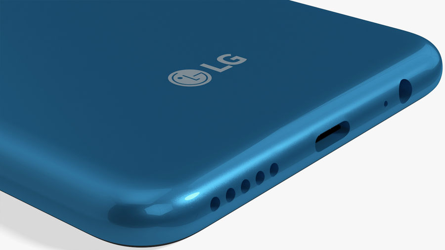 LG K50S New Moroccan Blue royalty-free 3d model - Preview no. 14