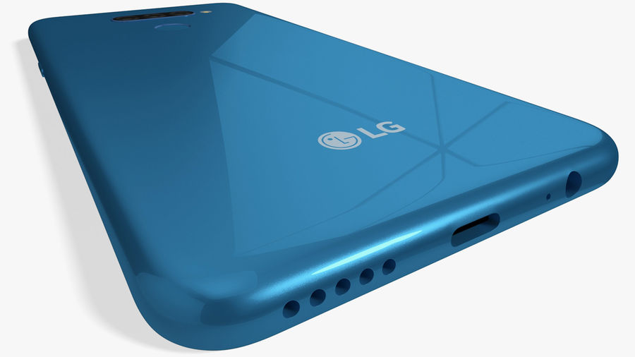 LG K50S New Moroccan Blue royalty-free 3d model - Preview no. 6